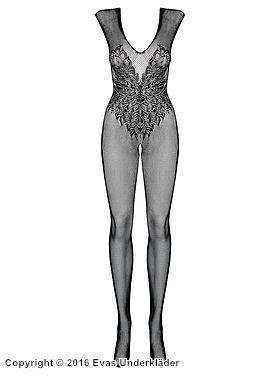 Kroppsstrumpa med vackert mönster